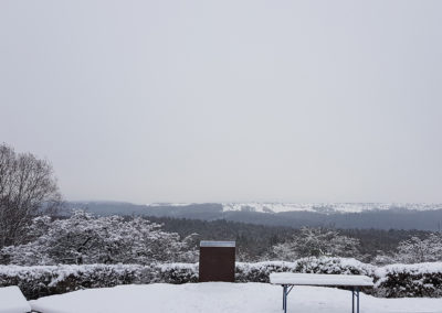 Uhlbergturm Ausblick Freifläche Winter