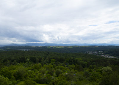 Uhlbergturm Ausblick Sommer