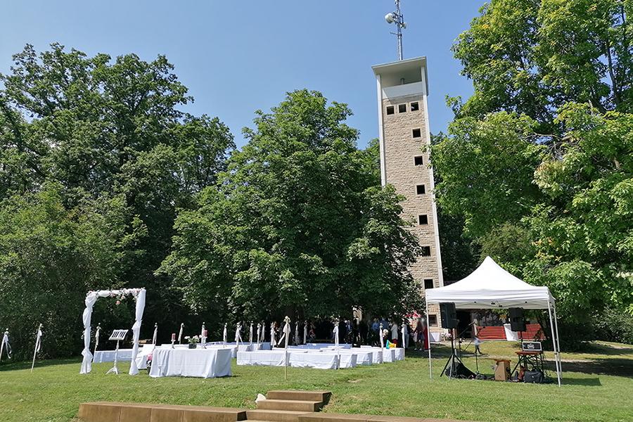 Hochzeit am Uhlbergturm