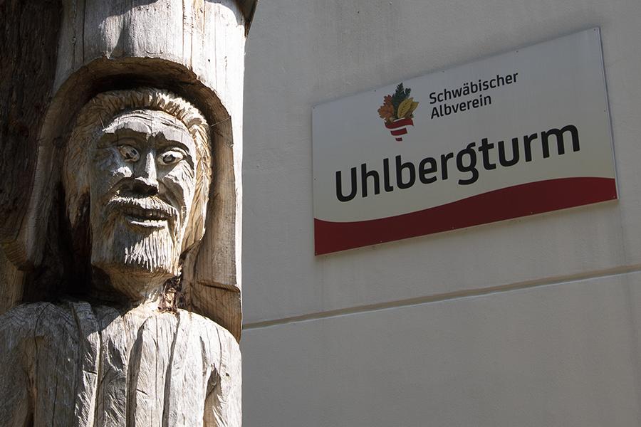 Wanderer vom Uhlbergturm