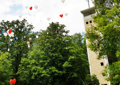 Uhlbergturm Hochzeit Ballons
